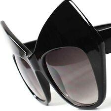Black Funky Vintage Retro Fashion Party Womens Cat Eye Oversized Sunglasses G2