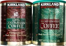 Kirkland Signature Fine Ground Coffee 100% Colombian Supremo or Decaf Dark Roast