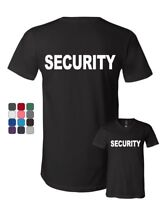 Security V-Neck T-Shirt Bouncer Police Event Staff Uniform Guard Tee