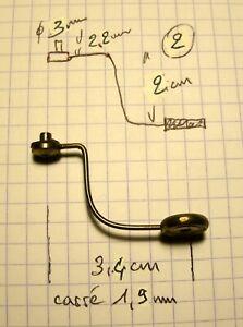 pièce détachée de pendule (2) ,marteau de cloche ,timbre ,Mouvement