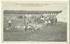 Scene In Camp of Royal Horse Artillery Quebec Military Postcard