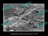 OLD LARGE HISTORIC PHOTO OF LOBETHAL SOUTH AUSTRALIA AERIAL VIEW OF TOWN c1940