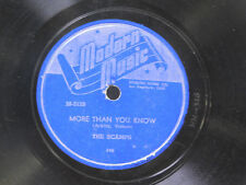 The Scamps 78 More Than You Know bw Don't Cry Baby   Modern Music VG+