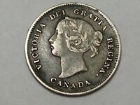 Better-Grade 1888 Silver Canadian 5 Cent Coin. Canada Victoria.  #68