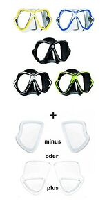 Mares X-Vision Tauchermaske mit optischen Gläsern positiv u. negativ
