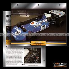 #105.05 ★ MATRA MS 120 D 1972 ★ Monoplace F1 Formule 1 - Fiche Auto Car card