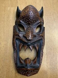 """Hand Carved Decorative Wooden Mask Beast 11"""""""