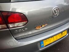 Devil Demon Peeking Monster Car Sticker Decal Badge Funny Cool  VW Golf