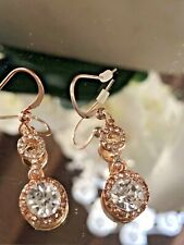 Women Fashion Earing Gold Tone Sparking Earing 1 1/2 New