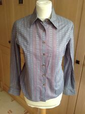 LOVELY JAEGER GREY PATTERNED LADIES SHIRT UK SIZE 10 WORN GREAT CONDITION
