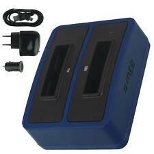 Chargeur double SLB-10A pour Samsung WB750, WB800F, WB850F, WB855F, WB2100