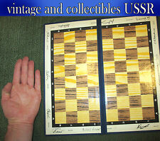 Chessboard of the USSR, world Champions with autographs and photos 36x36 cm