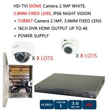 Power Supply + Cctv Hd-Tvi Camera 2.1 Mp 8 Dome + 8 Turret + 16 Ch Dvr Hdmi