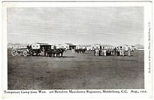 POSTCARD 3RD BATTALION MANCHESTER REGIMENT-TEMPORARY CAMP-MIDDELBURG C.C. 1904