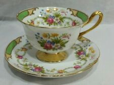 Shelley China Dubarry Cup & Saucer - Green