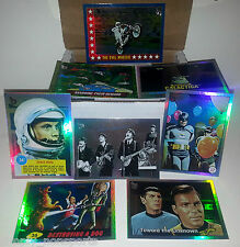 TOPPS 75TH ANNIVERSARY RAINBOW 100-CARD set STAR WARS/TREK+BEATLES+GPK+JFK+007