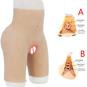 Silicone Pants Shaping fake panty Vagina Thicken Hip Underwear for Crossdresser