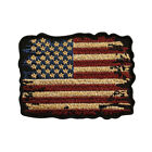 Distressed American Flag Vintage Look Hook Patch (3.0 inch MTB2)