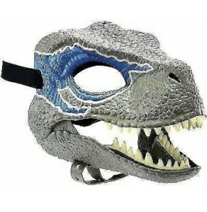 Jurassic World Velociraptor BLUE Dinosaur Dino Mask Camp Cretaceous NEW with Tag