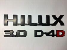 HILUX 3.0 D4D badge set (black) 2005-2015 Models