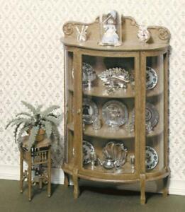 Chrysnbon Dolls House China Cabinet Furniture Kit Model Kit F-170