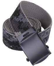 "military camo web belt subdued urban digital camouflage 54"" long rothco 4685"