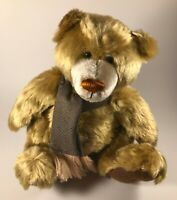 """12"""" Behr Brand Cooperstown Bears Collectible Honey Brown Jointed Bear w/ Scarf"""