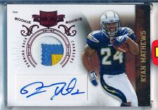RYAN MATHEWS - 2010 Plates And Patches 3 Color Patch AUTO RC /699 - Chargers RC