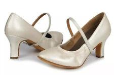 Roymall- Women's Floral White 6.5US Latin Dance Ballroom Performance Shoes
