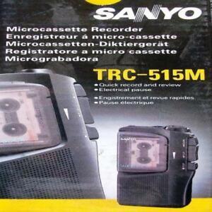 Boxed Sanyo TRC-515M Dictation Machine - Micro Cassette Recorder