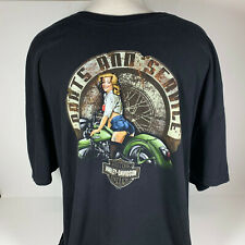 Mens Harley-Davidson T-Shirt Short Sleeve Clinton Township Wolverine 4Xl Flaws