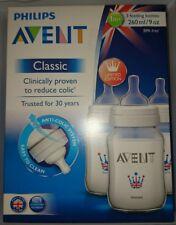 Philips Avent classique 3 biberons 260 ml 1m+ Britannia Design BPA Free