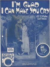 I'm Glad I Can Make You Cry, Steve Freda, Gus Hill photos WWI sheet music,  1918