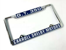 Chrome Metal License Plate Frame For Ford Mustang GT350 - Carroll Shelby Motors