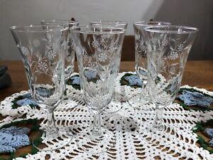 Antique Fostoria Crystal Glassware lot  Glasses Champagne Glass