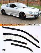 For Toyota Celica T200 1993-97, Windows Visors Deflector Sun Rain Guard Vent