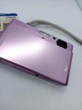 Sony DSC-T77 Pink 10.1 MP MegaPixel Digital Camera (Broken battery latch)