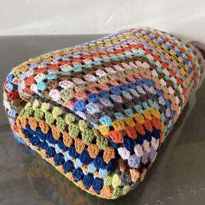 "#1 Vintage Crochet 60"" x 60"" Blanket / Throw - Boho Retro"