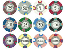 NEW 900 PC Milano Pure Clay 10 Gram Poker Chips Bulk Lot Pick Your Denominations