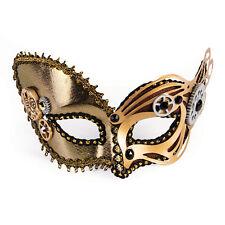 Steampunk Vintage Cogs Metallic Mask On Glasses Frame Fancy Dress