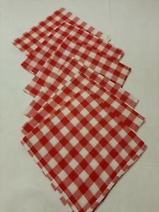 20 Servietten Red Vichy check kariert rot weiß Karo Tischdeko günstig 33x33cm