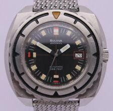 VINTAGE Bulova Snorkel ref.774 Mens 44mm Steel Automatic Divers Watch ORIGINAL