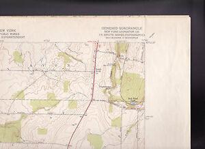 Geneseo Quadrangle Livingston County NY US Geological Survey Map 1950