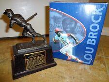 St Louis Cardinals LOU BROCK Replica Statue Busch SGA 5-17-09 HOF Base Burglar