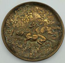 Antique Bronze Gun Dog Pheasant Retrieving Retriever Scene 19th Century MUST SEE