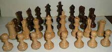 Staunton Jeu d'échecs pièces bois buis et palissandre comme neuf
