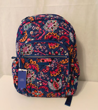 Vera Bradley Iconic Campus Backpack Quilted Cotton Dragon Fruit Floral