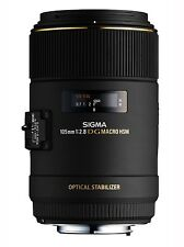 Sigma 105mm f/2.8 Macro OS EX DG Lens Canon AF  Mount- New UK 3 Year Warranty