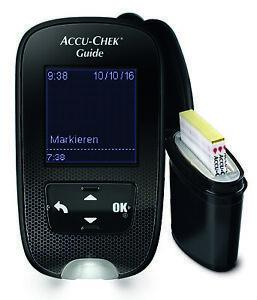 Accu-Chek Guide Messgerät mmol/l + 10-210 Teststreifen OVP vom med.Fachhändler