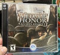 Medal of Honor: Allied Assault PC CD-Rom Computer Games 2 Discs EA Games 2002